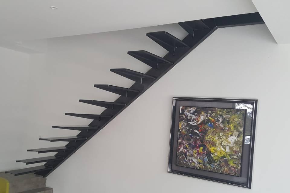 SUD METAL DESIGN | Ferronnerie Métallerie Intérieure Escalier métallique contemporain